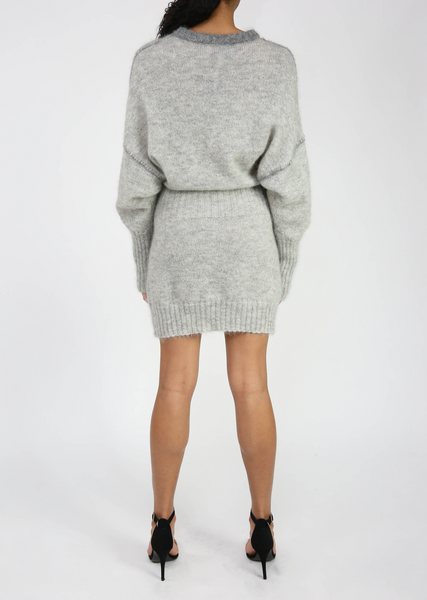 Grey Slouchy Sweater Dress Sale