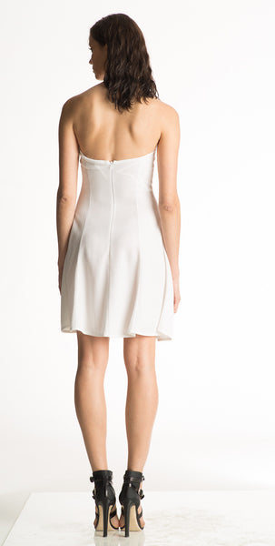 Maree - Knit, Sleeveless, White or Black Halter Dress