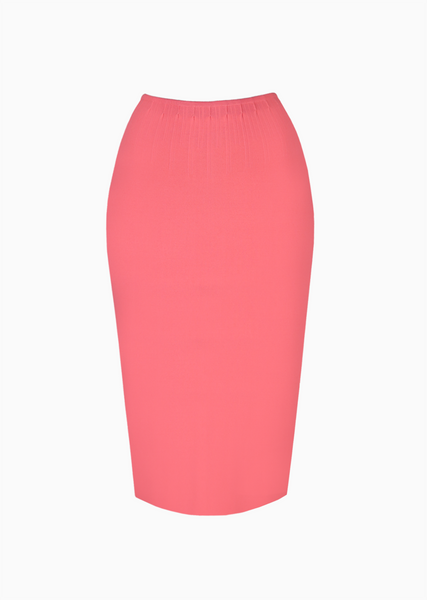 daisi knit pencil skirt with pleating detail paula hian official online boutique women s luxury fashion