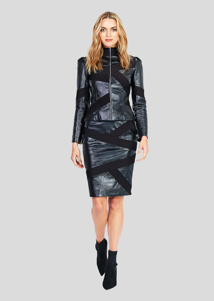 Axelle – Leather Pencil Skirt