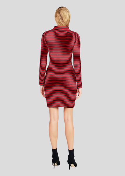 Sidonia – Long Jacket Dress with Stripes