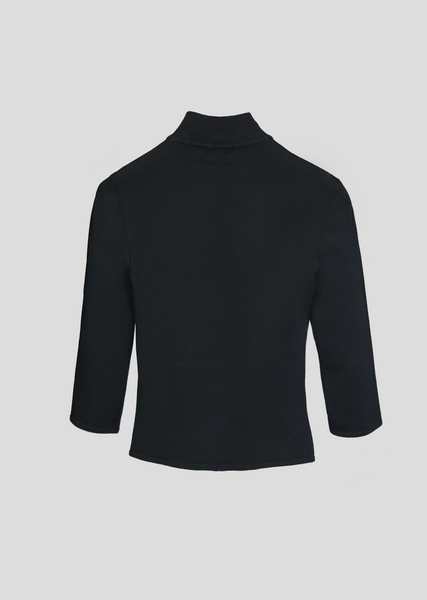 Astrid - Cropped Viscose Turtleneck Top