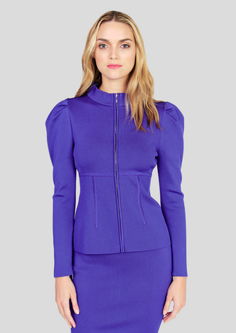 Zuri – Twill Jacket with Puffed Shoulders