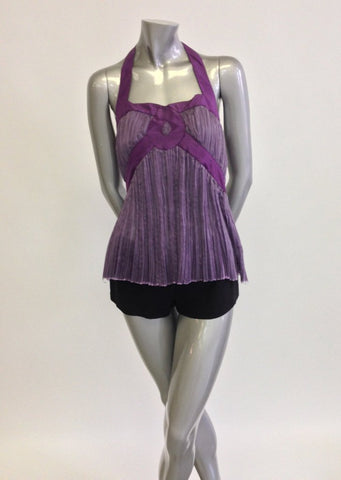 Silk Chiffon, Purple Halter Top Sale