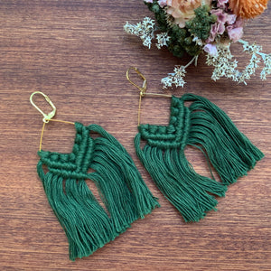 Gold Macramé Earrings