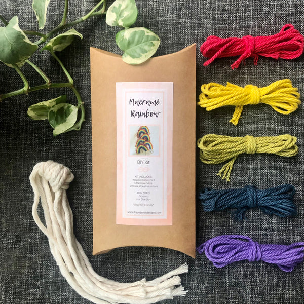 DIY Macramé Rainbow Kit