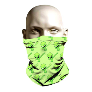 Face Shield -  Green Alien design