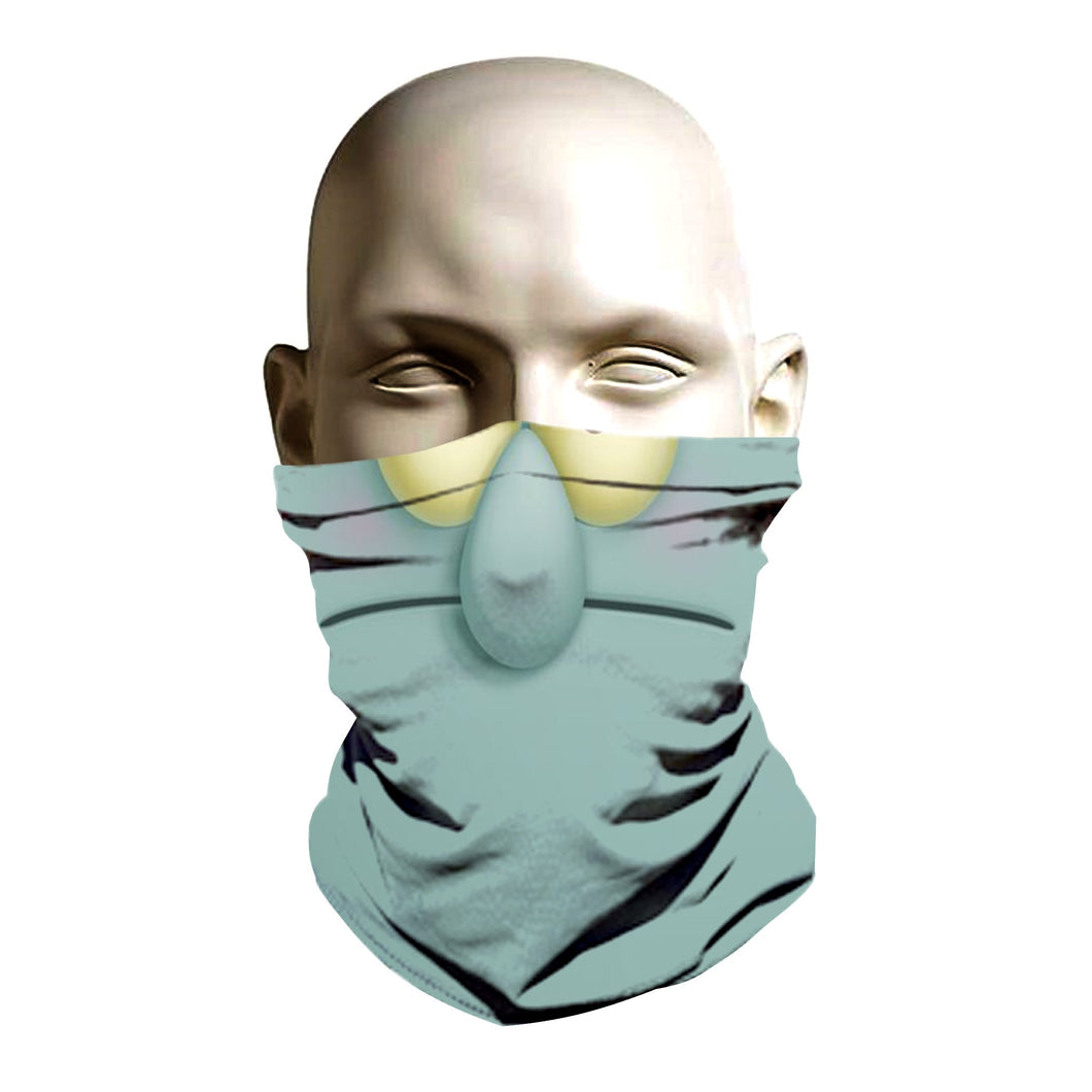 Ski Mask face shield - Squidward design