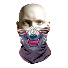 Load image into Gallery viewer, Ski Mask face shield - Wolf design - FashionGorilla