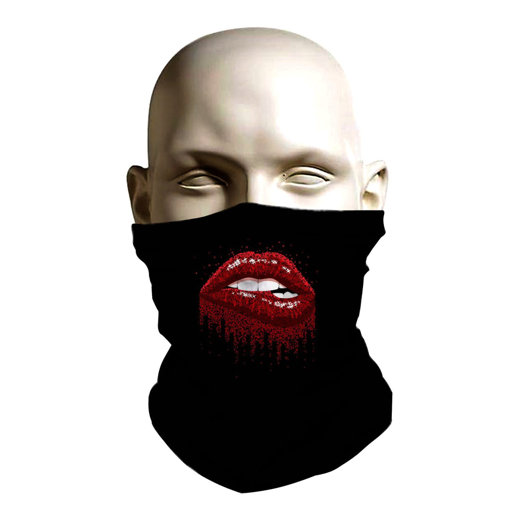 Face Shield - Sexy Red Lips design