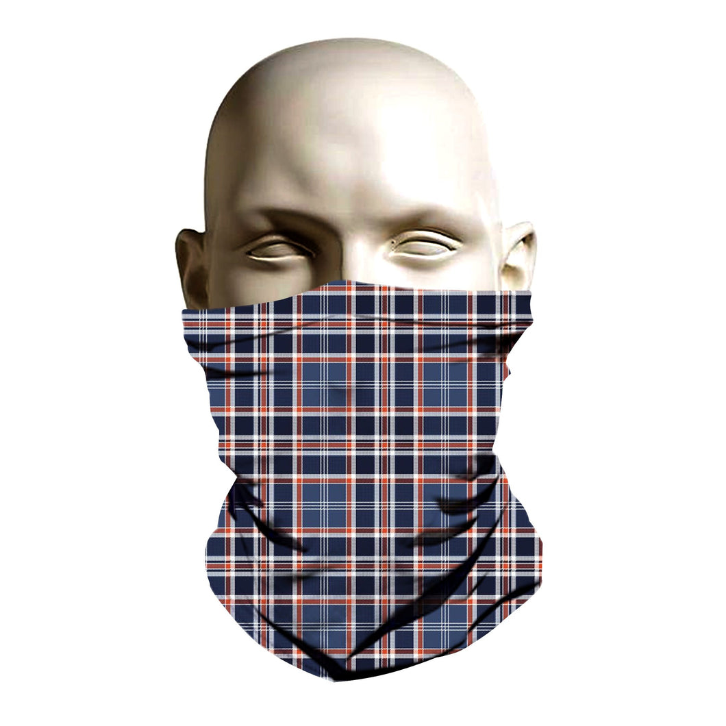 Face Shield - Blue Burberry pattern design