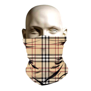 Face Shield - Burberry pattern design