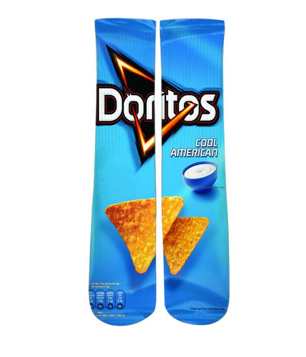 dorito cool ranch printed crew socks-dope sox
