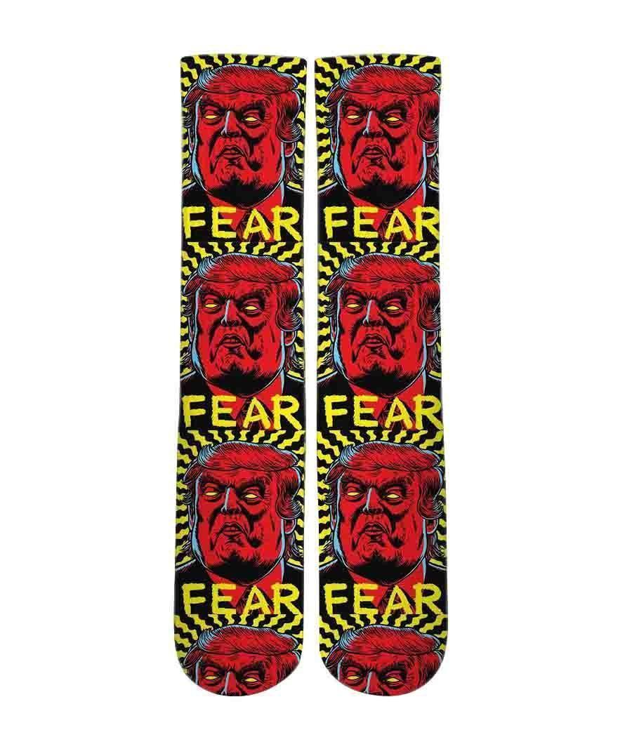 Fear Trump Graphic socks - DopeSoxOfficial