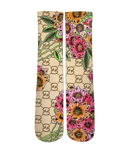 Custom Elite Socks-Gucci floral socks - DopeSoxOfficial
