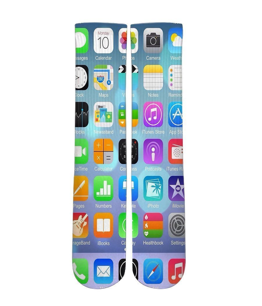 iPhone Screen Elite crew all over printed socks - DopeSoxOfficial