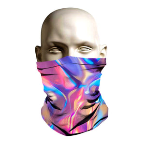 Ski Mask face shield - Liquid Rainbow design