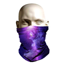 Load image into Gallery viewer, Ski Mask face shield - Purple Galaxy design
