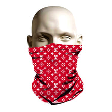 Load image into Gallery viewer, Face Shield - Red Louie Vuitton design