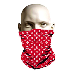 Face Shield - Red Louie Vuitton design