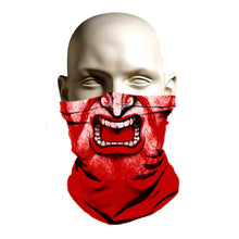 Load image into Gallery viewer, Ski Mask face shield - Red Samurai design