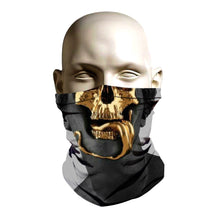 Load image into Gallery viewer, Face Shield - Gold Skull design