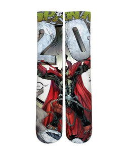 Spawn Comic book printed crew socks - DopeSoxOfficial