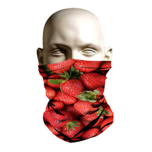 Load image into Gallery viewer, Ski Mask face shield - Strawberry pattern design