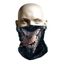 Load image into Gallery viewer, Ski Mask face shield - Venom movie style design