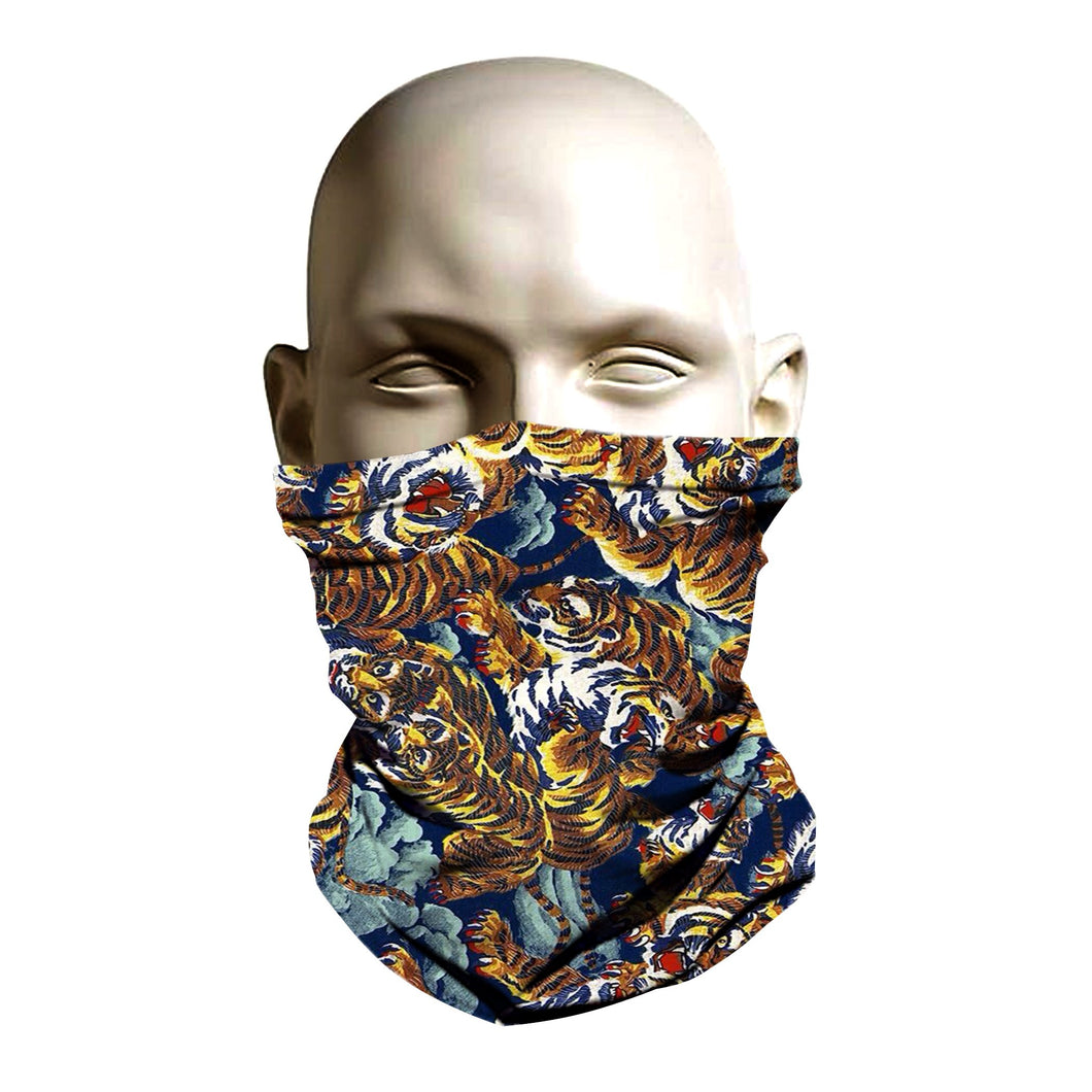 Ski Mask face shield - Versace tiger design
