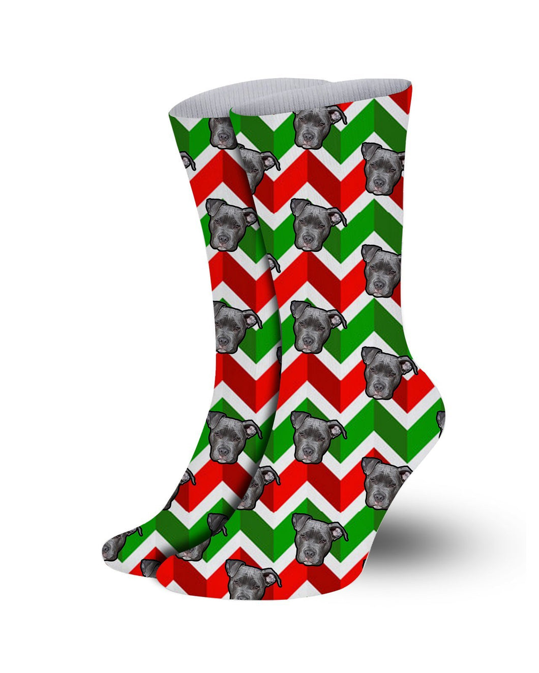 Christmas pattern Pet socks-gift wrap background
