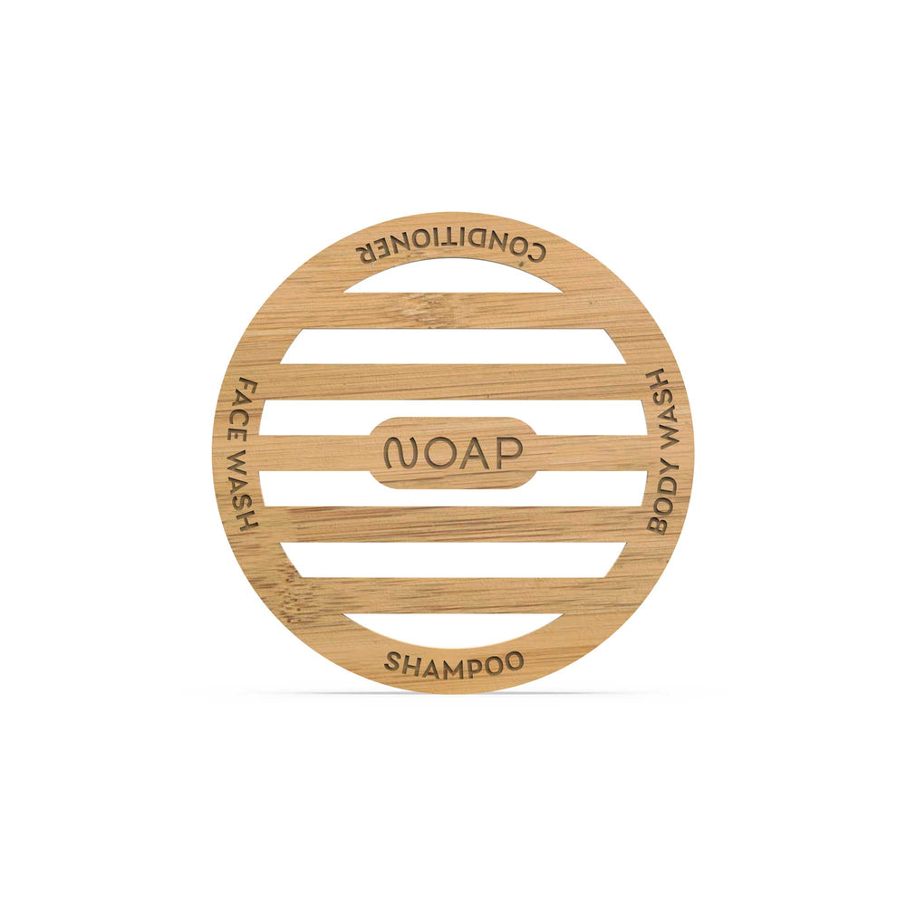 Single Bamboo Coaster with Water Soluble Packaging