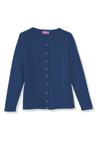 Cardigan Basic marine Heidekoenigin