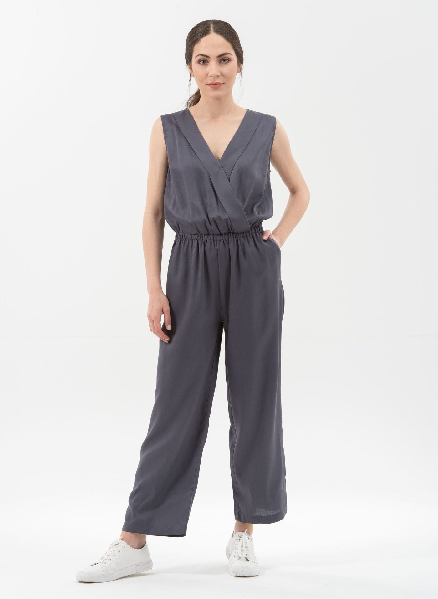 Organication Jumpsuit aus Tencel, steel