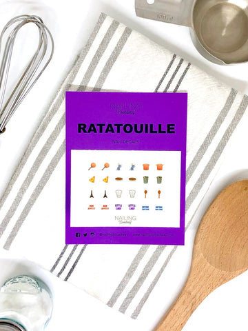 ratatouille nail decals