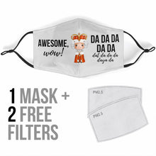 Load image into Gallery viewer, PRE-ORDER Snacks Premium Face Mask with Filters - Blue - Little Shop of Geeks