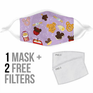 PRE-ORDER Purple Snacks Filter Mask - Little Shop of Geeks