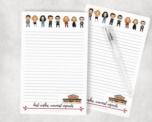 Best Wishes Warmest Regards Notepad - Funny TV Show Creek Stationery Memopad Notebook Gift
