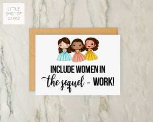 Work! The Schuyler Sisters Greeting Card