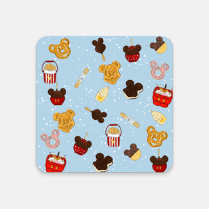 Snacks Print Beverage Coaster - Little Shop of Geeks