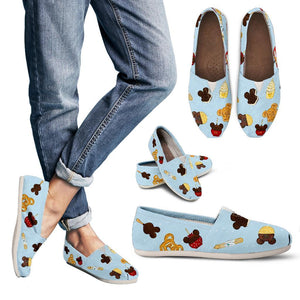 Snacks Print Casual Shoes - Little Shop of Geeks