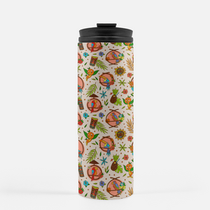 Tiki Birds Thermal Tumbler - 16oz Travel Mug