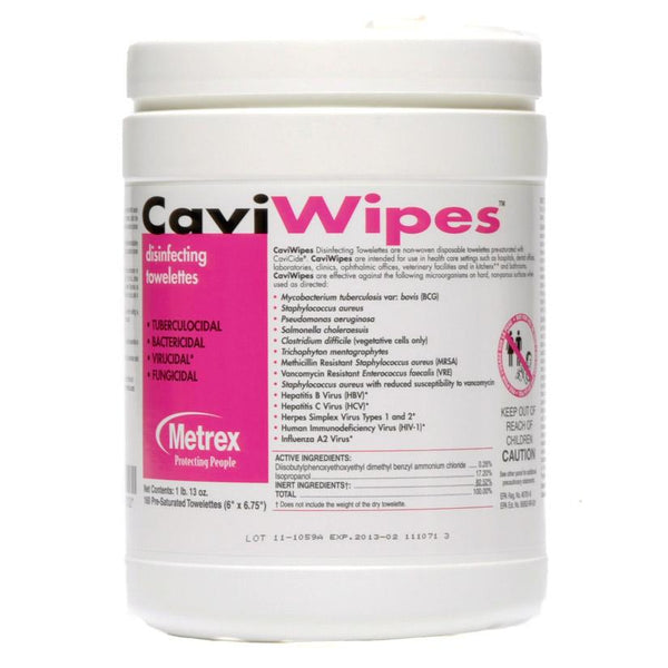 CaviWipes Disinfectant Wipes (160 Count) - Made in USA - Primo Dental Products