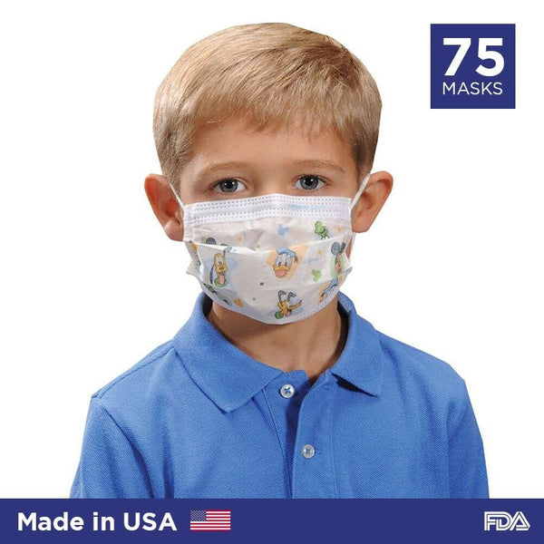 Disney Disposable Face Mask For Children By Halyard Health (Made in USA) - 75/box - Primo Dental Products