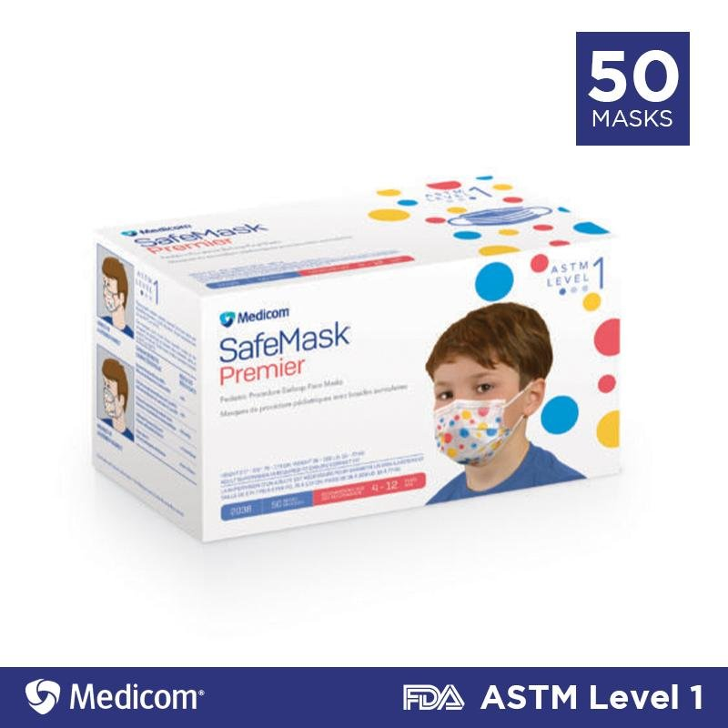 Medicom Children's Disposable Face Mask - 50/box - Primo Dental Products