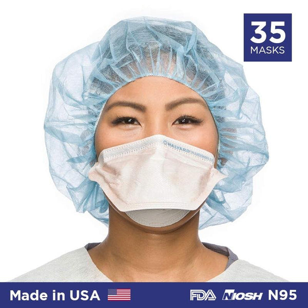 N95 Duckbill Mask Fluidshield (Halyard Health) Particulate Respirator (Made in USA) - 35/box - Primo Dental Products