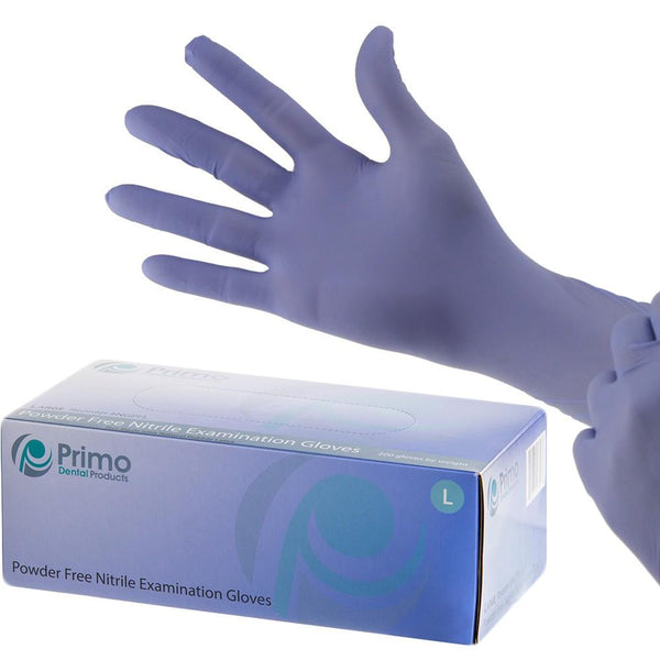 Nitrile Gloves - Exam Gloves Powder Free - 200pc/box - Primo Dental Products