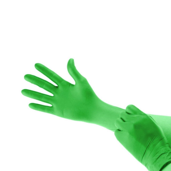 Powder Free Chloroprene Examination Gloves - Green (200/box) - Primo Dental Products