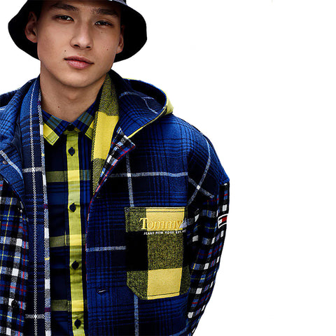 TOMMY JEANS MIX PLAID JACKET