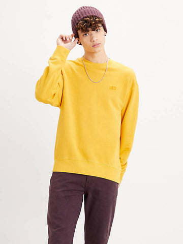 LEVI'S AUTHENTIC LOGO CREWNECK YELLOW